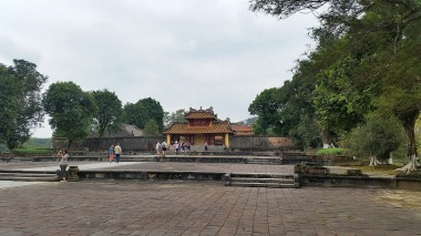 imposing and sombre, Minh Mang's tomb
